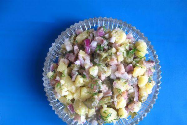 Салат с сельдью фото