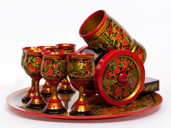 Сувениры с хохломской росписью фото