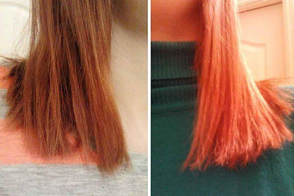 Придание рыжим волосам яркости фото