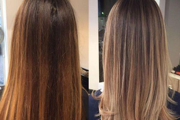 легкое освещение волос фото