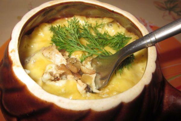 Жюльен из грибов и курицы фото