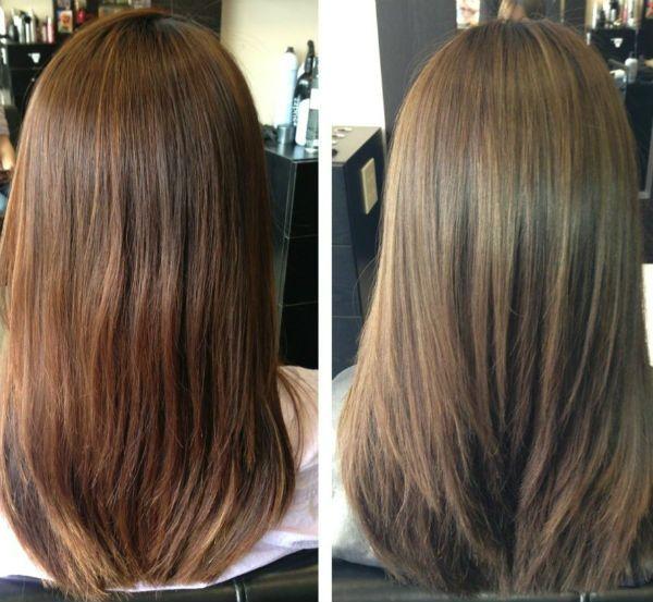 Мелирование на темных волосах фото