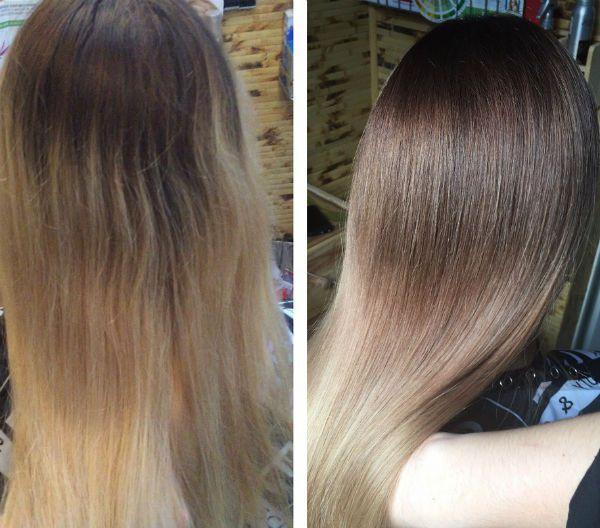 Калифорнийское мелирование на средних волосах фото