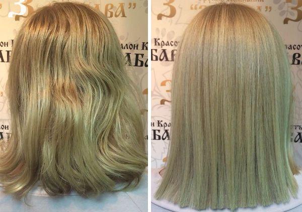 Насыщение осветленных волос фото