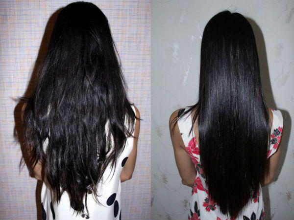 Насыщение черных волос фото