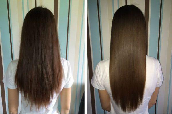 Ламинирование и выправление волос фото