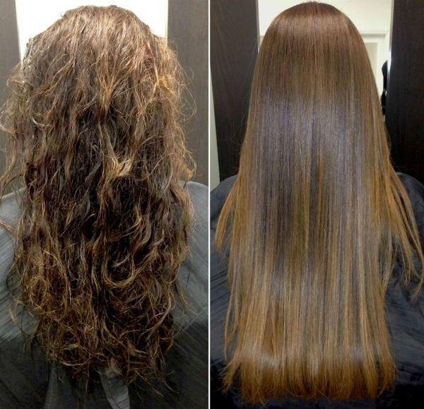 Ламинирование натуральных вьющихся волос фото
