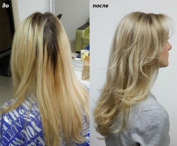 Мелирование с эффектом выгорания для светлых волос фото