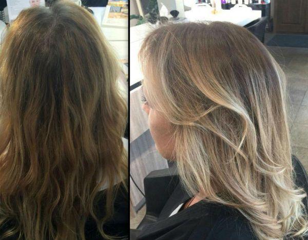 Окрашивание под выгоревшие светлые волосы фото