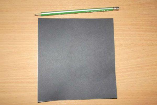 Подготавливаем черный квадрат фото