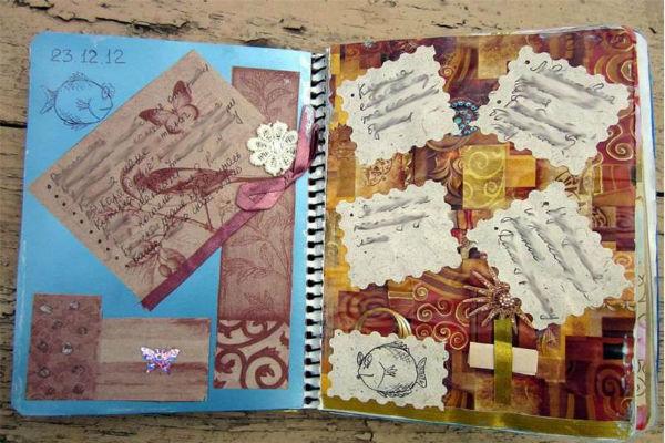 Декор личного дневника фото