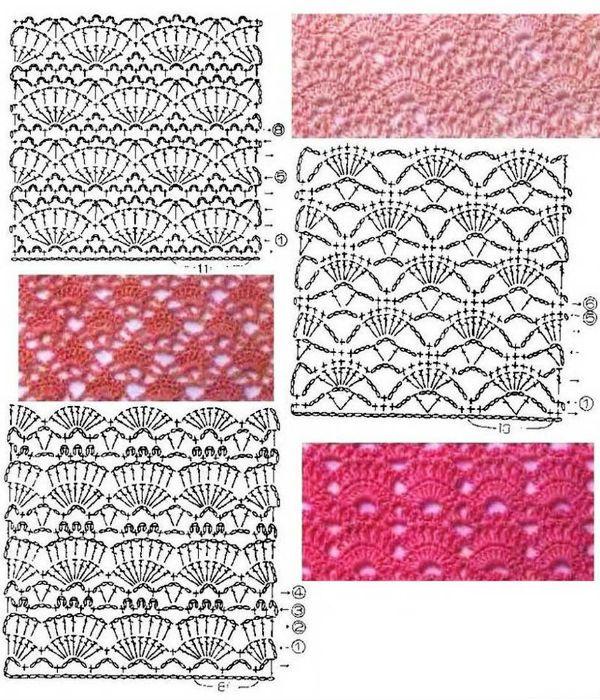 Ажурные узоры для вязания фото