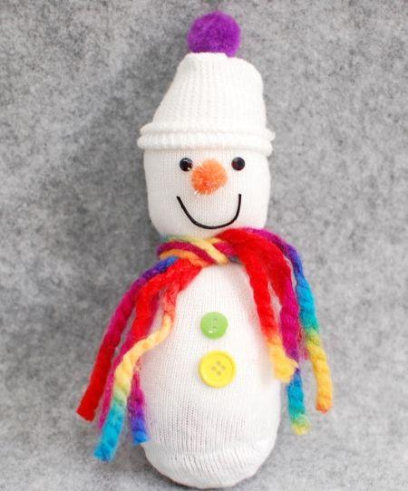 Оформляем снеговика фото