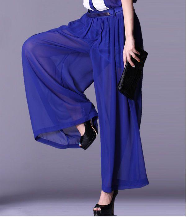 Широкие юбка-брюки фото