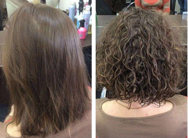 Биозавивка на длину волос до плеч фото