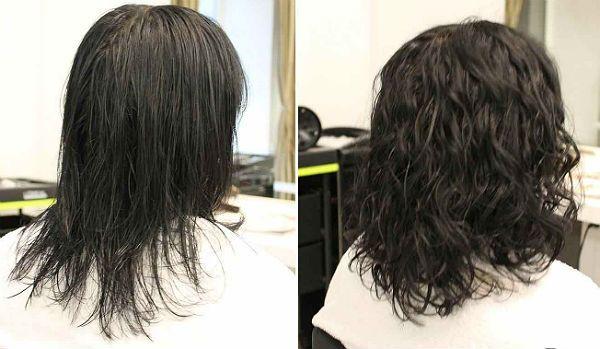Биозавивка средних волос фото
