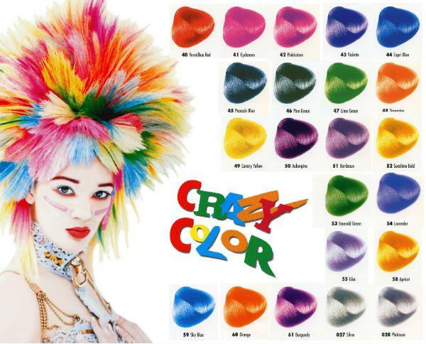 Crazy Color временная краска для волос палитра фото