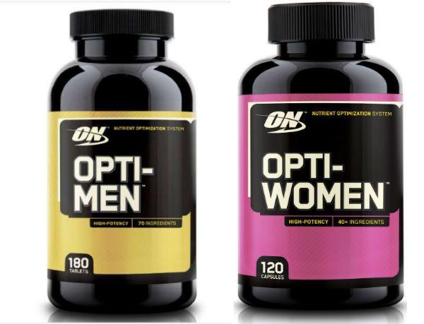 Optium Nutrition Opti-Men и Optium Nutrition Opti-women фото
