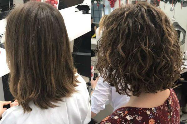 Процедура биозавивки волос фото до и после