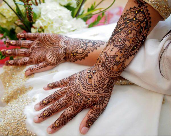 Свадебное мехенди на руках фото