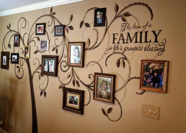 Генеалогическое дерево на стене фото