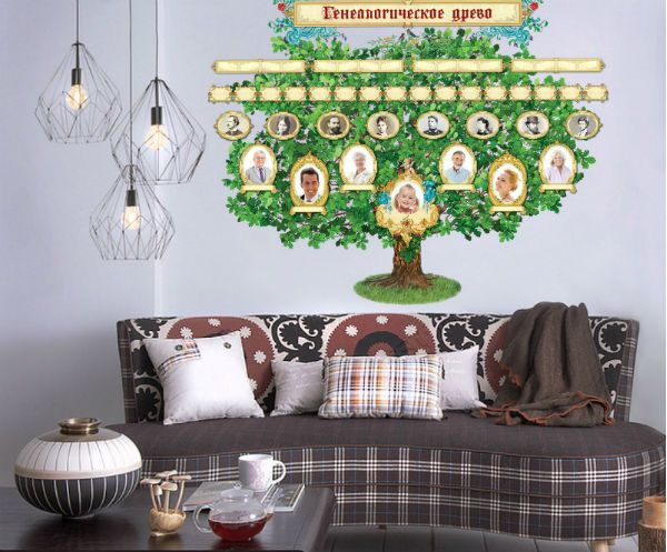 Генеалогическое дерево наклейка на стену фото