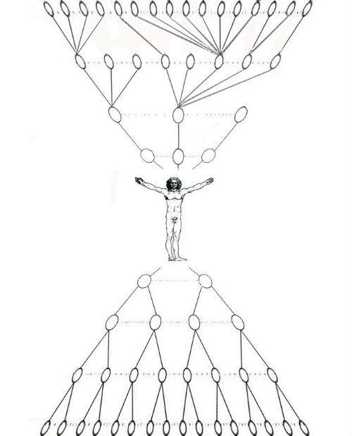 Схема оформления генеалогического дерева песочные часы фото