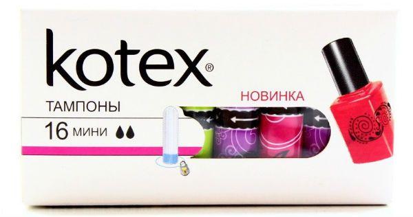 Kotex mini тампоны фото
