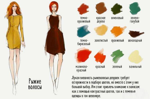 Идеальные цвета для рыжих фото