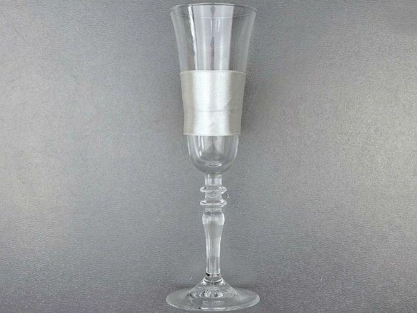 Декор свадебных бокалов кружевом и лентами шаг 3 фото