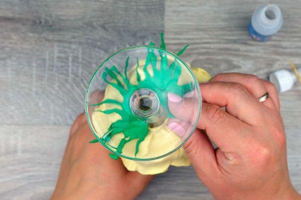 Декор свадебных бокалов лепестками шаг 41 фото
