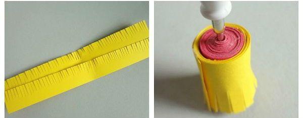 Объемная маргаритка шаг 2 фото