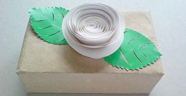Объемная роза из бумаги фото