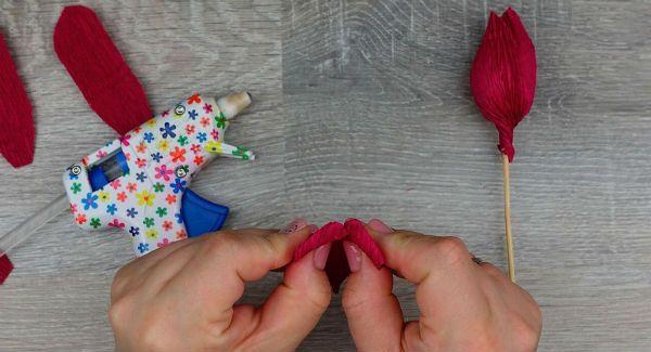 Объемные розы с сюрпризом шаг 11 фото