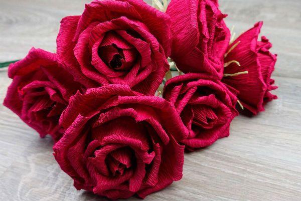 Объемные розы с сюрпризом фото