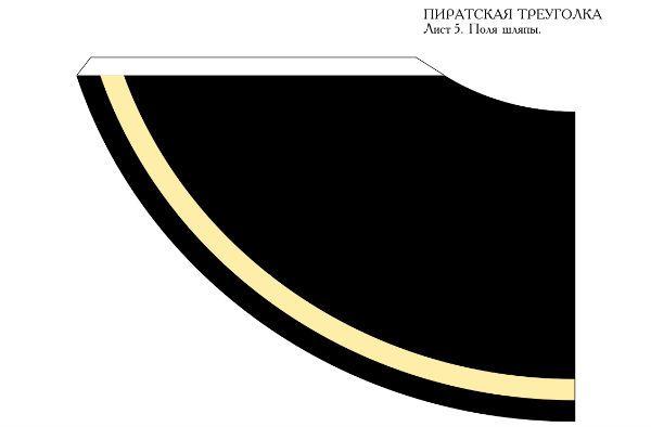 Пиратская треуголка деталь 10 фото