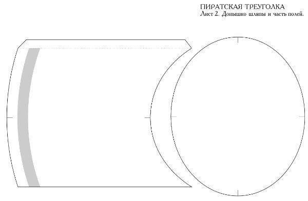 Пиратская треуголка деталь 3 фото