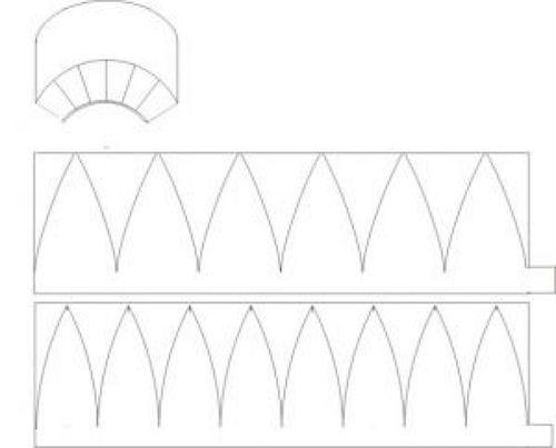 Схема бейсболки из бумаги фото