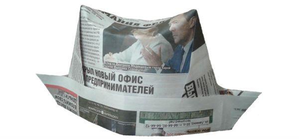Шляпа с полями из бумаги фото