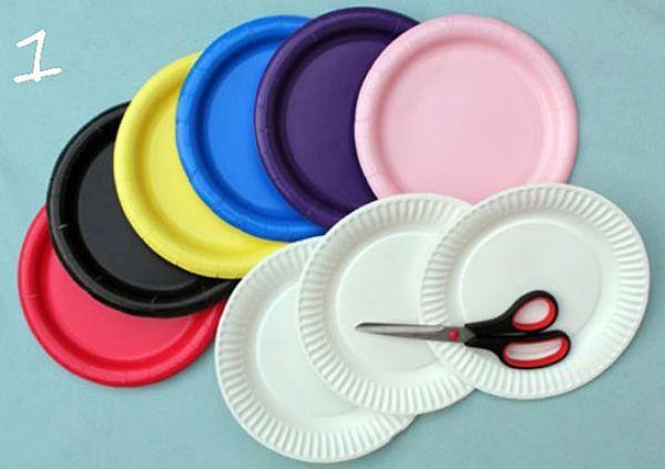 Шляпка из бумажной тарелки инструменты фото