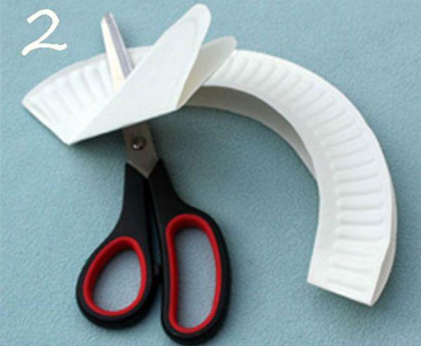 Шляпка из бумажной тарелки шаг 1 фото