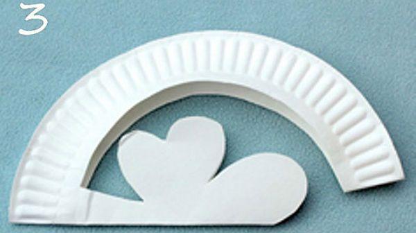 Шляпка из бумажной тарелки шаг 2 фото