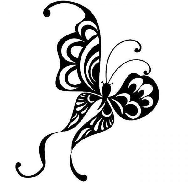 Бабочка трафарет для декора детской фото