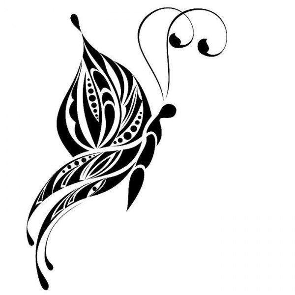 Трафарет для декора бабочка фото