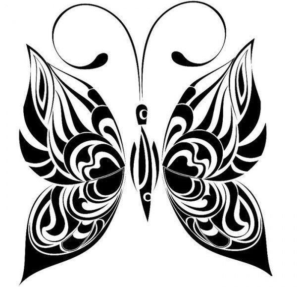Бабочка трафарет для декора стен фото
