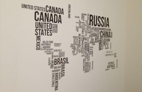 Трафарет карта мира фото
