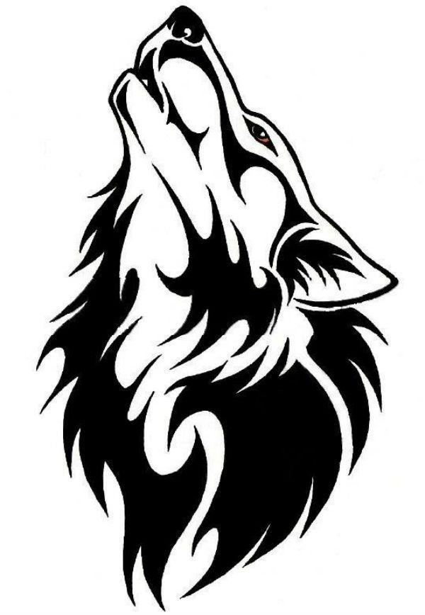 Трафарет волк фото