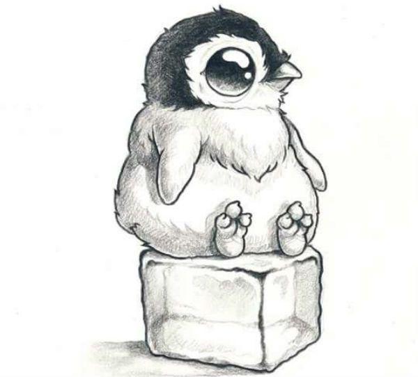 Пингвин на льду фото