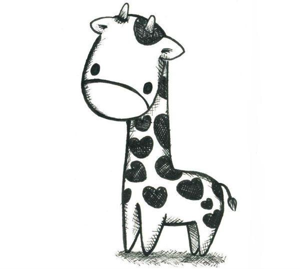 Жираф маленький фото