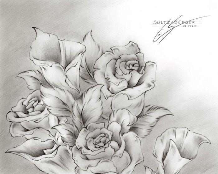 цветы для срисовки